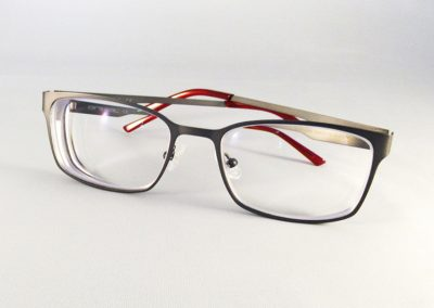 1.74 Ultra Thin anti-glare single vision lenses to an Animal frame.
