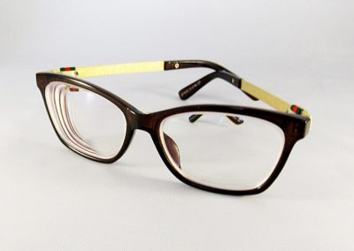 1.74 Ultra Thin Double Aspheric anti-glare lenses in a Gucci frame.
