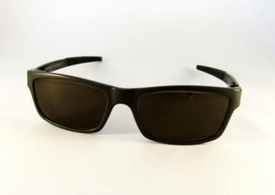 Tailor made tinted varifocal in an Oakley Currency frame.