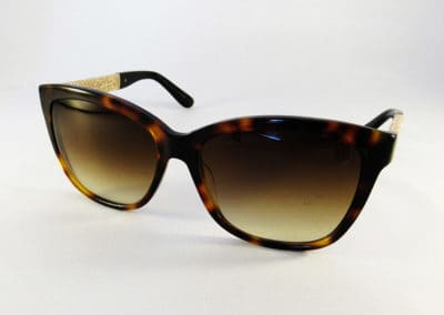 Tailor Made graduated brown tints in a Jimmy Choo frame.