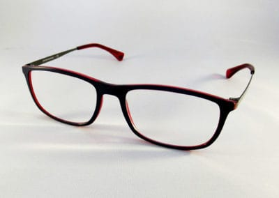 Tailor Made 1.67 Pristine lenses in an Emporio Armani frame.