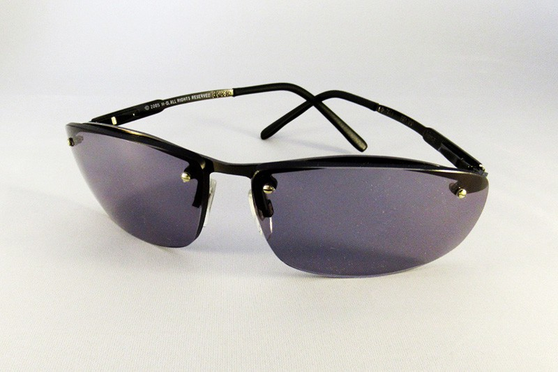95ec7219d54 Specialist tinted polycarbonate lenses to a Harley Davidson rimless frame.