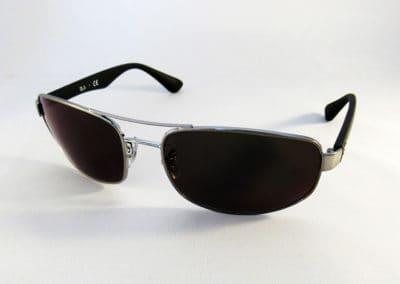 Freeform varifocal tints into Ray Ban wrap sunglasses.