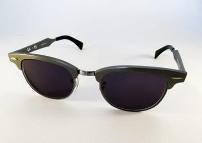 Single vision 1.5 tinted grey lenses into a Ray-Ban frame.
